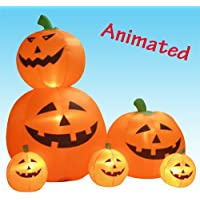 BZB Goods Halloween Inflatable Animated Pumpkins Decoration