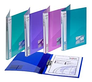 Snopake A4 Original Clamp Binder Pack of 10 Pieces - Assorted Electra Colours