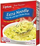 Lipton Soup Secrets Extra Noodle with Real Chicken Broth, 2-Count 4.9-Ounce Boxes (Pack of 12)