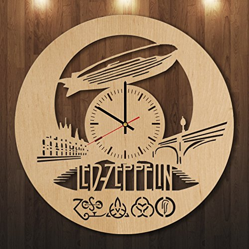 LED-ZEPPELIN-HANDMADE-Natural-Wood-Wall-Clock-Get-unique-home-room-wall-decor-Gift-ideas-for-men-and-women-boys-and-girls-Rock-Unique-Art-Design-Leave-us-a-feedback-and-win-your-custom-clock