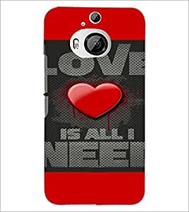 PrintDhaba Quote D-4116 Back Case Cover for HTC ONE M9 PLUS (Multi-Coloured)