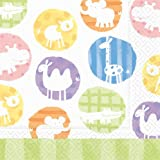 Design Design Hullabaloo Zoo Lunch Napkin, 20-Count Packages (Pack of 4)