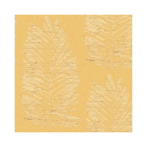 Tommy Bahama Grasscloth Leaf Unpasted Wallpaper Color: Yellow Brown