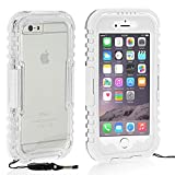 Queens® Waterproof Case Cover for Apple Iphone 6 Plus 5.5 Inch, Dustproof Snowproof Shockproof Premium Slim Hard Armor Protective Advanced Shock Absorbing Fit Cover Case with Screen Protect for Apple Iphone 6 Plus (5.5 Inch ) (4-White)