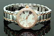 Ladies Classic Diamond Aqua Master Watch Two Tone w319c