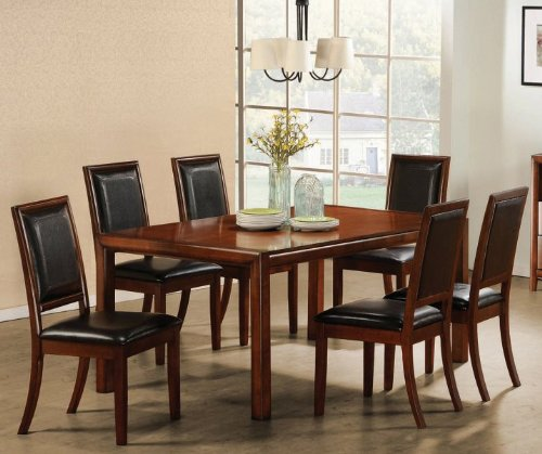 Buy Low Price Coaster 7pc Formal Dining Table And Chairs Set In Rich Walnut F