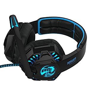 Gaming Headset for PC Laptop Mac Mobile Phones with Microphone and LED Light by LIHAO (NOSWER I8L)