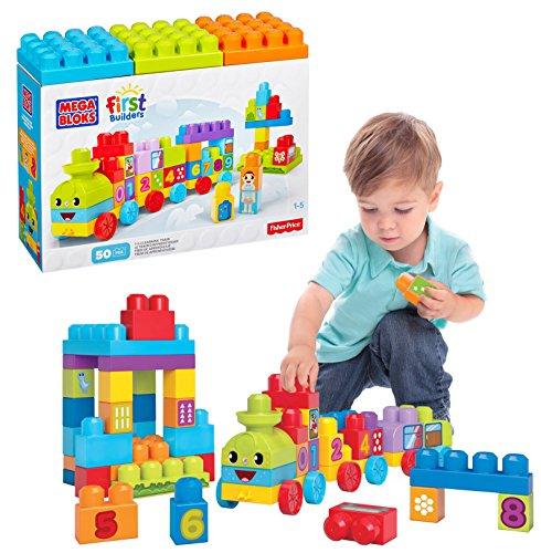 Megabloks - Tren, juego de construcción, 50 piezas (DBL08-9964)