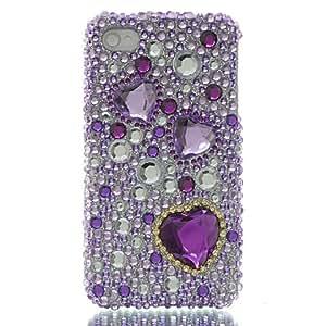 Dream Wireless Full Diamond Case for iPhone 4/4S - Retail Packaging - Purple Heart