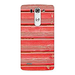 Delighted Red Woodlock Print Back Case Cover for LG G3 Mini
