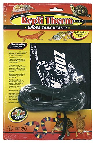Zoo Med ReptiTherm Under Tank Heater, Small (Under Tank Heater 10 Gallon compare prices)