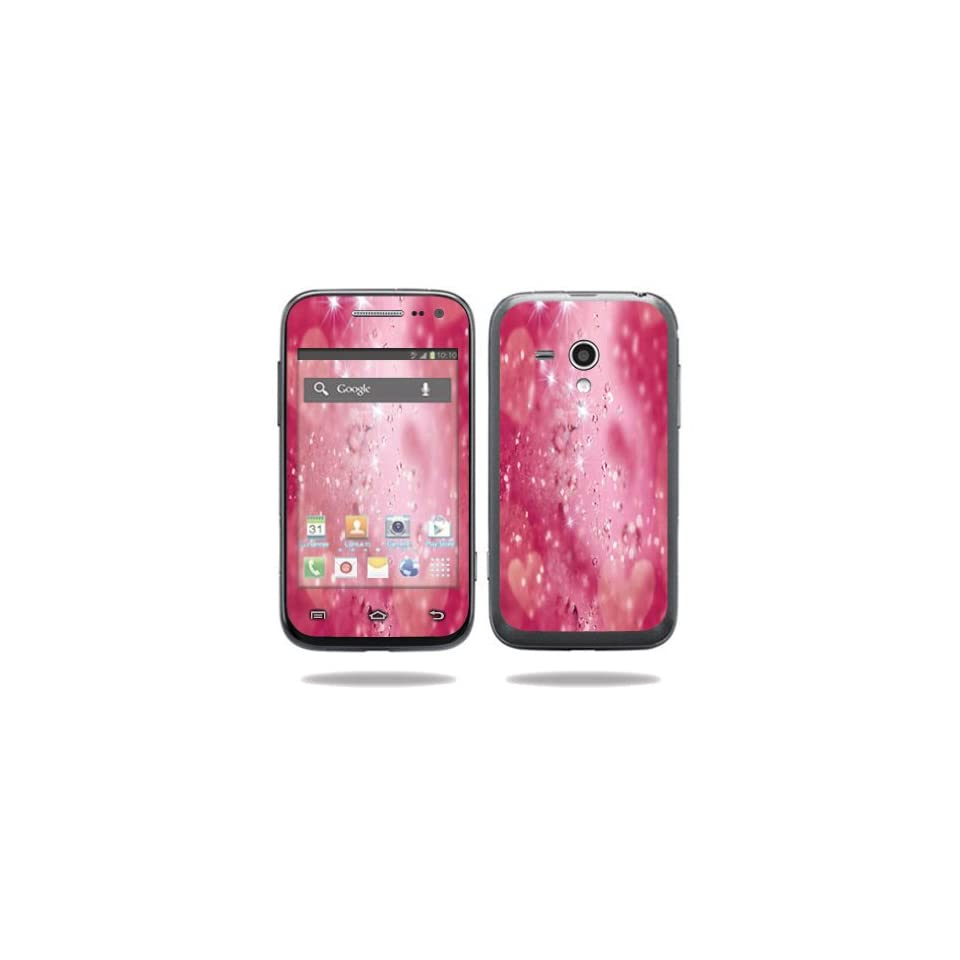 MightySkins Protective Vinyl Skin Decal Cover for Samsung Galaxy Rush Cell Phone M830 Boost Mobile Sticker Skins Pink Diamonds Computers & Accessories