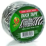 Duck Brand 280110 Zig-Zag Zebra Printed Duct Tape, Black/White, 1.88-Inch by 10 Yards, Single Roll