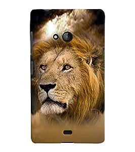 PRINTVISA Tiger Case Cover for Microsoft Lumia 540