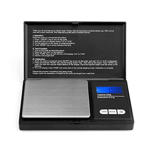 1000G/0,1G bilancia tascabile-Akale bilancia digitale tascabile, 1000x 0,1G bilancia digitale tascabile, per oro/monete,