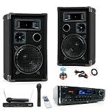600W PA Karaoke Partyanlage Boxen Endstufe DJ-380