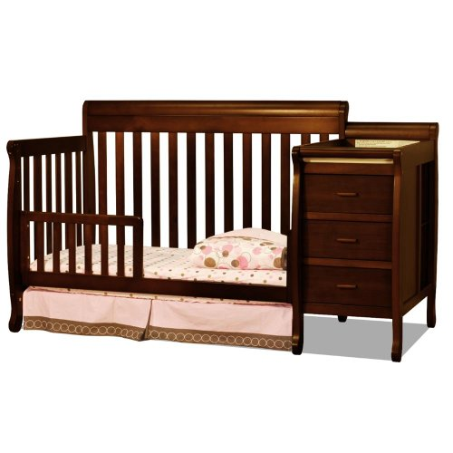 Baby Mile Eve Convertible Crib And Changer - Espresso front-157696