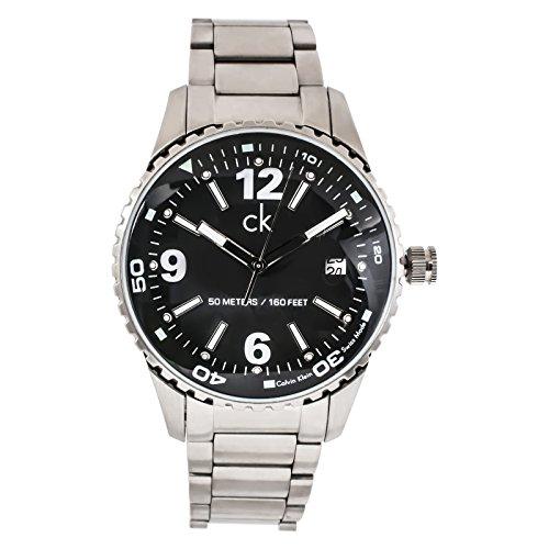 Calvin Klein reloj para hombre plateado/negro K3211130