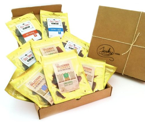 Bricktown Jerky Sampler Gift Basket for Men (Regular)