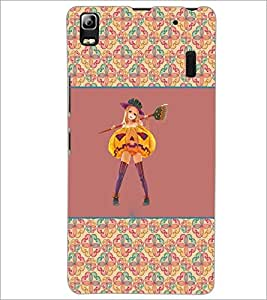 PrintDhaba Girl with Broom D-2603 Back Case Cover for LENOVO A7000 (Multi-Coloured)
