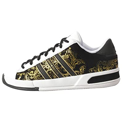 adidas Men's Campus LT-Basketball Shoe,White/Gold/Black,9.5 M