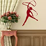 Gymnastics Girls Wall Sticker / Wall Vinyl Art / Large Girls Wall Transfer RA208