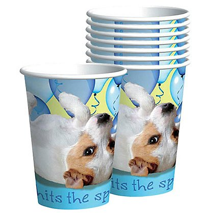 Designware Party Pups 9 oz Cups  - 8 ct