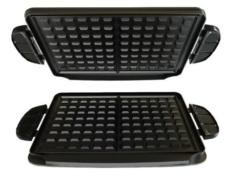 george-foreman-gfp84wp-evolve-grill-84-square-inch-waffle-plate-accessory-set-black-by-george-forema