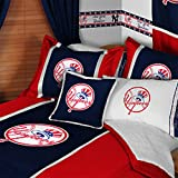 7pc MLB New York Yankees Baseball Full-Double Bedding Set at Amazon.com