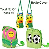 2 Green Giraffe 2 Green Flower 2 Green Ball Bottle Cover Total Pair Of 6