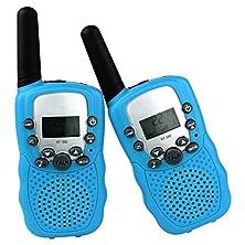 buy Dolirox® Kids Children Mini Hand Held Walkie Talkie Set Wireless 2-Way Radio Intercom Interphone With Lcd Display And Led Flashing Light Pack Of 2 (Blue)
