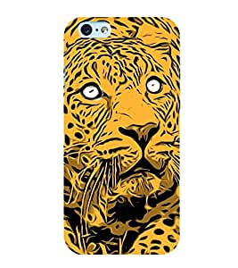 animated glowing tiger face 3D Hard Polycarbonate Designer Back Case Cover for Apple iPhone SE