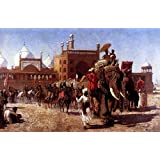 The Museum Outlet - Edwin Lord Weeks - The Return Of The Imperial Court From The Great Mosque At Delhi - Canvas...