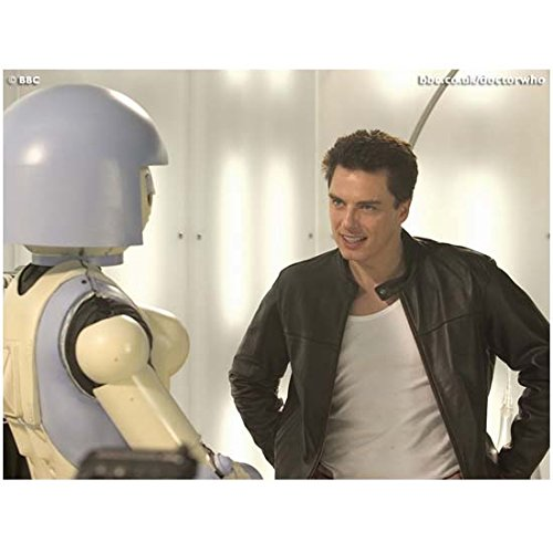 Torchwood John Barrowman is Captain Jack on Doctor Who Talking to Robot 8 x 10 Photo (Eureka Robot compare prices)