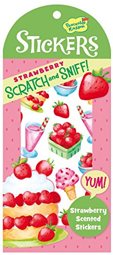 Peaceable Kingdom Scratch and Sniff Strawberry Scented Sticker Pack