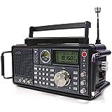 Eton Satellite 750 Récepteur AM/FM/LW/SW et Bande Aviation Réveil Noir