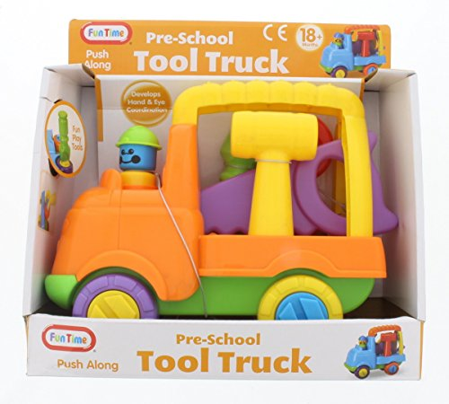 Fun Time 5053 Pre-School Fun Play Push Along Tool Truck - 1