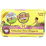 Earth's Best Chlorine-Free Diapers, Size N, 160 Count (Packaging May Vary)