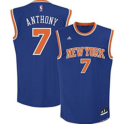 Carmelo Anthony New York Knicks Blue 2014-15 NBA Youth Revolution 30 Replica Road Jersey (X-Large 18-20) (Nba Jersey New York Knicks compare prices)