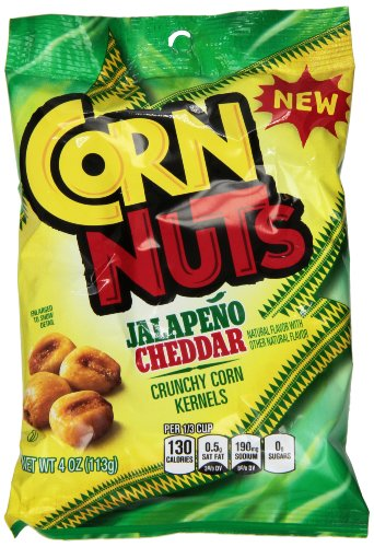 Corn Nuts Flavored Snack, Jalapeno Cheddar, 4 Ounce (Pack of 12) (Corn Nuts Cheddar compare prices)