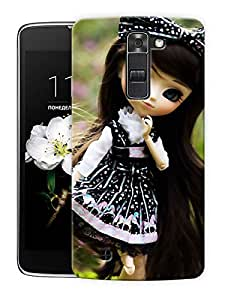 """Doll Cute Girl Printed Designer Mobile Back Cover For """"LG K10"""" By Humor Gang (3D, Matte Finish, Premium Quality, Protective Snap On Slim Hard Phone Case, Multi Color)"""