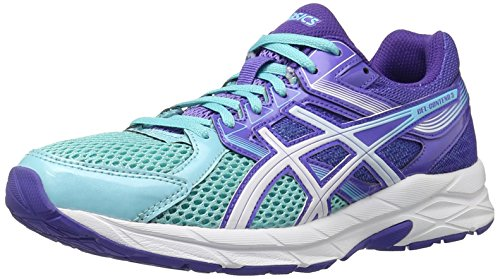 ASICS Women's Gel-Contend 3 Running Shoe, Turquoise/White/Acai, 7.5 M US