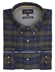 Blue Harbour Brushed Pure Cotton Tartan Checked Shirt