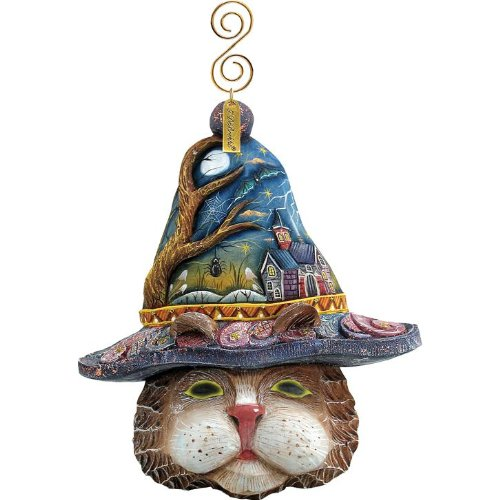 G. Debrekht Feline Fantasm Ornament, 4-1/2-Inch Tall, Includes String for Hanging