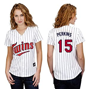 Glen Perkins Minnesota Twins Home Ladies Replica Jersey by Majestic by Majestic