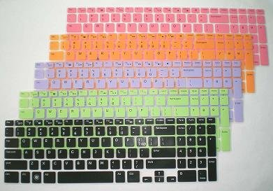 "1X Colorful Silicone Backlit Keyboard Protector Skin Cover For Dell Inspiron N5110 M5110 M511R (If Your ""Enter"" Key Is Like A ""7"", Our Skin Can'T Fit)"