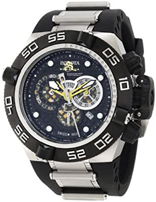Invicta Men's 6568 Subaqua Noma IV Chronograph Black Perforated Dial Black Polyurethane Watch