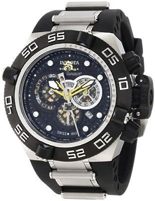 Invicta Men's 6568 Subaqua Noma IV Chronograph Black Perforated Dial Black Polyurethane Watch from Invicta