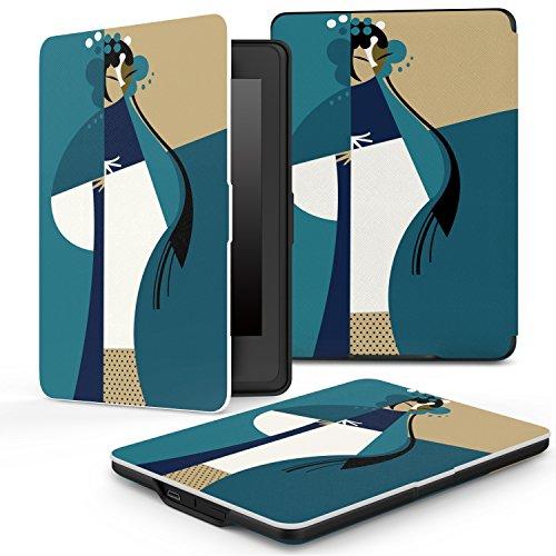 MoKo Kindle Paperwhite Case - Custodia Origami Ultra Sottile per Amazon Nuovo Kindle Paperwhite (Adatto Tutte le versioni: 2012, 2013, 2014 e 2015 Nuovo 300 ppi), Opera Cinese