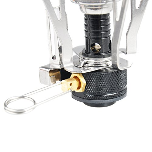 Outerstar ultralight mini backpacking outdoor canister Propane stove left on overnight